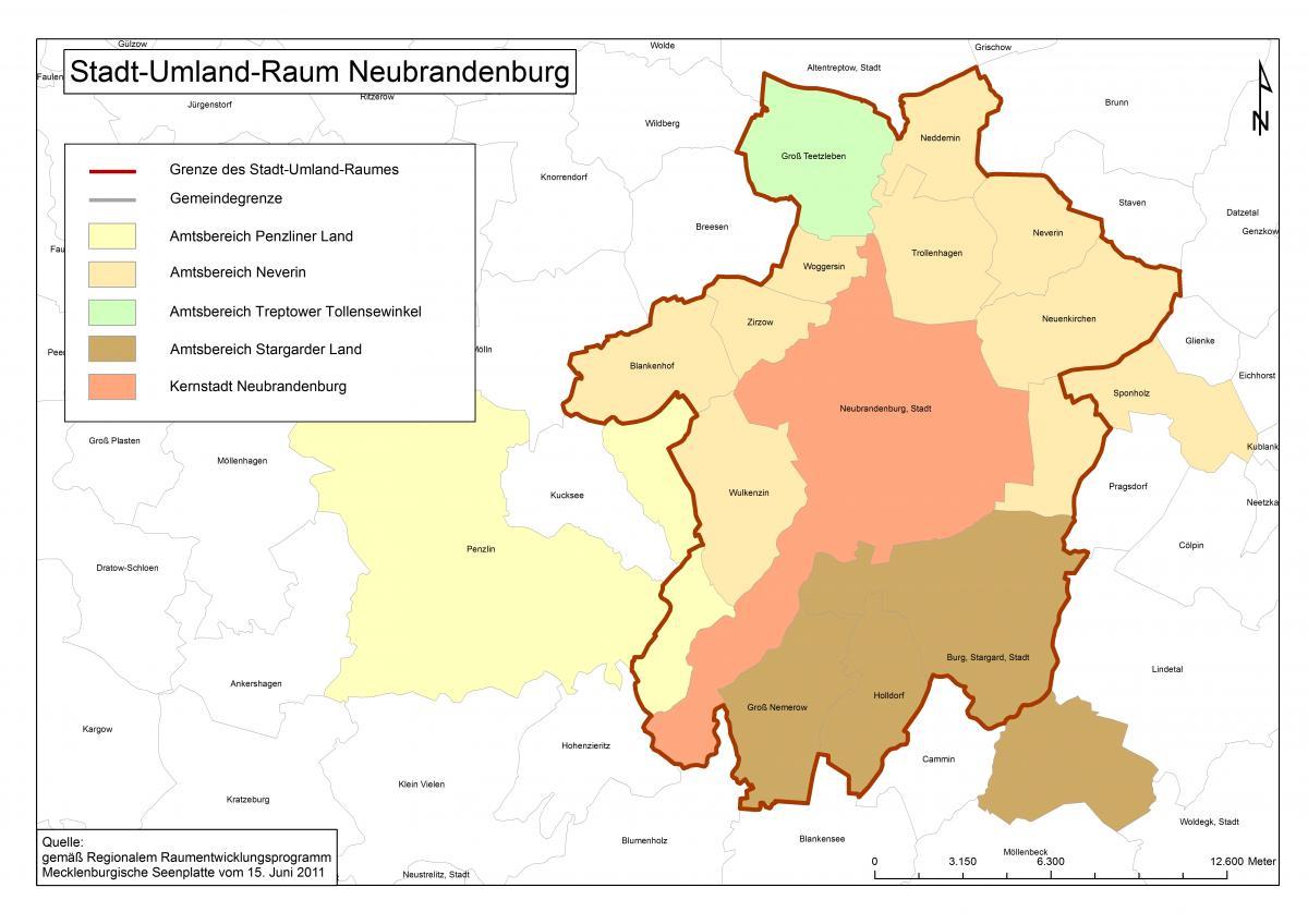 Stadt Umland Rahmenplan Neubrandenburg Regionaler